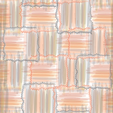 fascia: Geometric  grunge seamless pattern with watercolor stripes Illustration