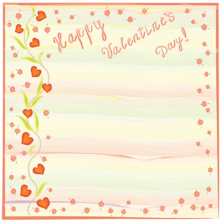 Valentine`s day greeting card Vector