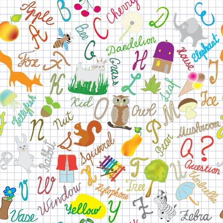 Composition alphabet anglais transparente sur fond rayé Banque d'images - 12204781
