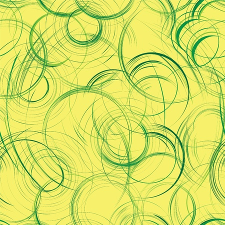 fabric design: Seamless grunge composition with green circles and stripes