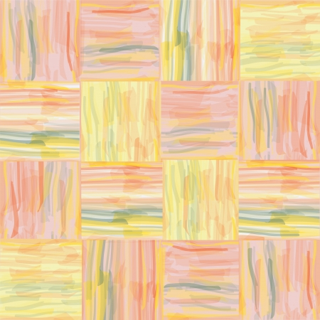 Seamless grunge quilt striped watercolor pattern Vector