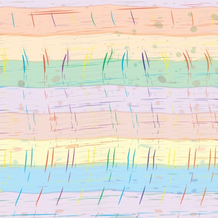 fascia: Grunge geometric colorful watercolor horizontal seamless pattern with stains and strokes