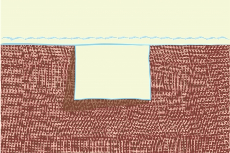 woven label: Empty blank tag for loomwork and webbed clothing