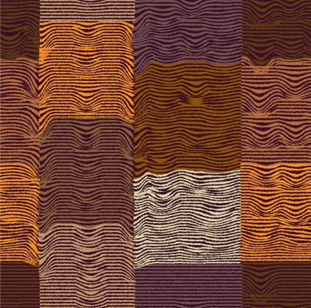Seamless quilt checkered and striped pattern Vector