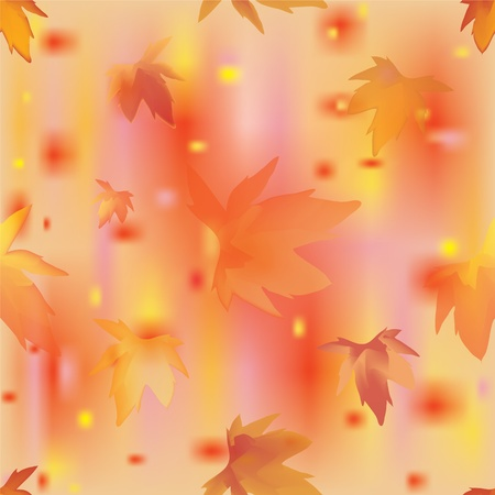 Autumn leaves seamless pattern. Vector illustration. Stock Vector - 14845372