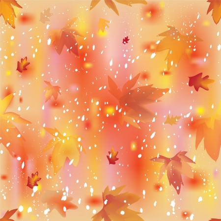 Leaf fall and snowfall in abstract seamless colorful autumnal composition Stock Vector - 14927749