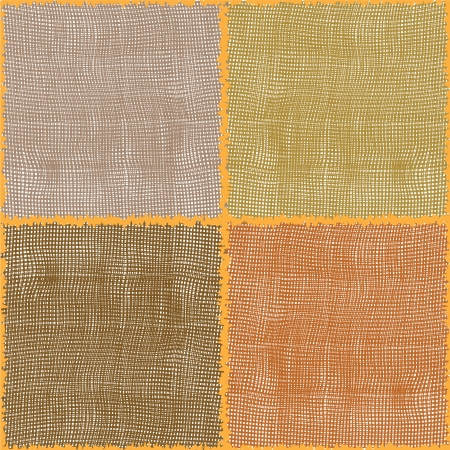 Stylized cotton textures in seamless square composition Vector