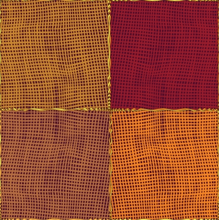 striped band:  Quilted medley gingham cloth,seamless composition.