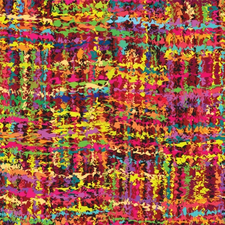 Colorful grunge stained and striped seamless pattern