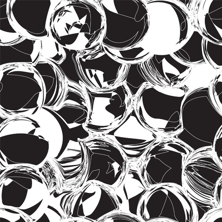 Seamless black and white grunge circle background Stock Vector - 16329527