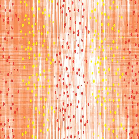 Grunge striped and checkered seamless pattern with blots and strokes Vector