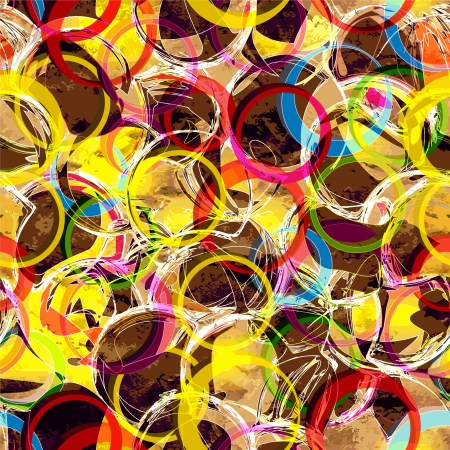 Abstract grunge stained background with colorful rings