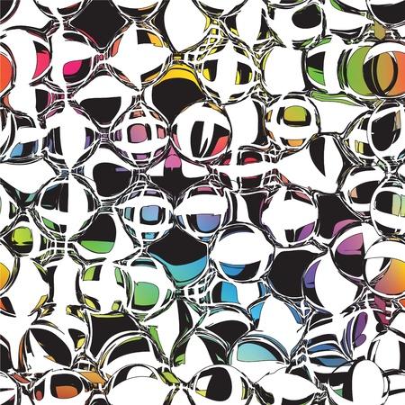 Grunge cercles et rayures motif coloré transparent Banque d'images - 17215765