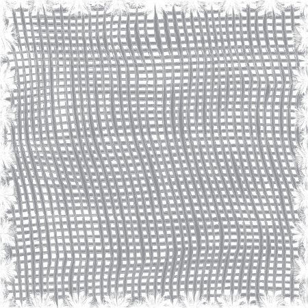 homespun:  Weave cotton grey and white seamless pattern with decorative stripes
