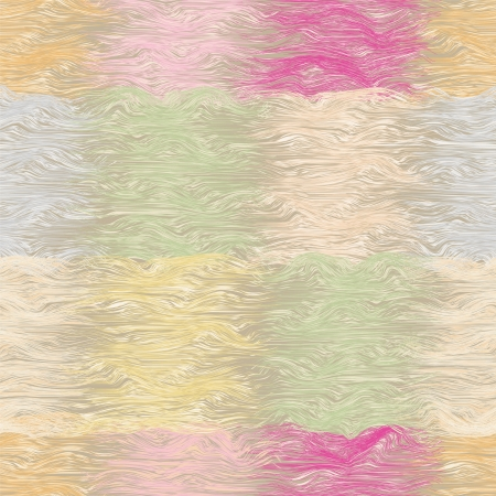 Grunge striped and wavy seamless quilt pattern in pastel colors Vector