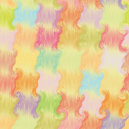 Seamless grunge wavy quilt colorful pattern in pastel colors Vector
