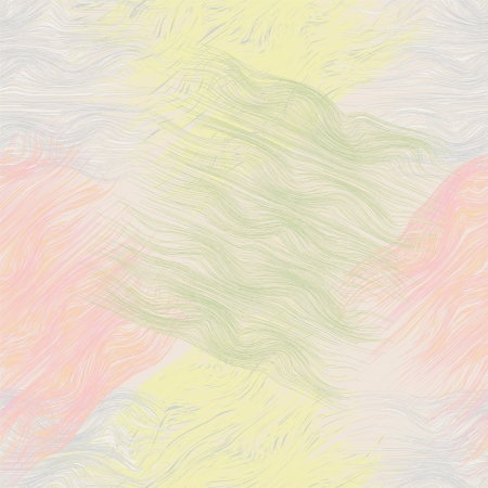 Grunge brush wavy seamless pattern in pastel colors Vector