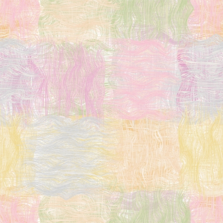 Grunge striped wavy quilt seamless pattern in pastel colors Vector