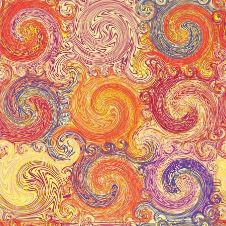 Grunge transparente tourbillonné motif coloré Banque d'images - 20861702