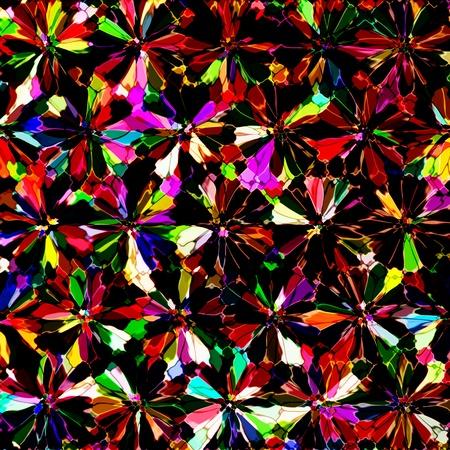 kaleidoscopic: Colorful stained glass kaleidoscopic background