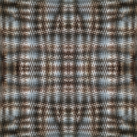 Grunge striped and checkered zogzag seamless symmetrical pattern in blue,black and grey colors Vector