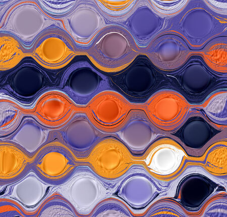 jammed: Grunge circled ,striped,crumpled colorful background