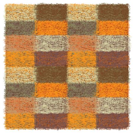 mohair: Colorful quilt wollen plaid Illustration