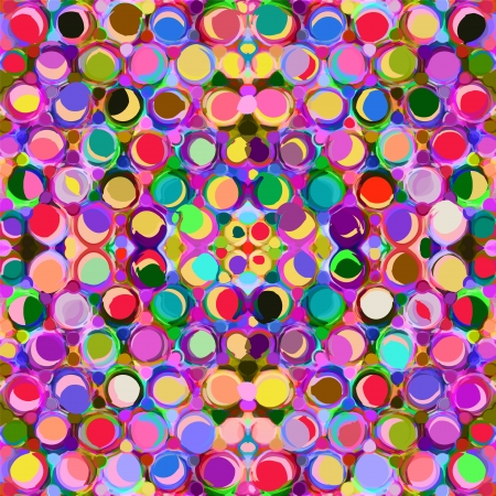 Seamless pattern with colorful grunge circles Vector