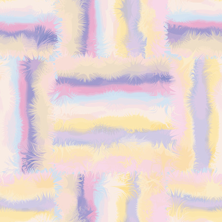 Grunge striped and checkered,stained seamless pattern in pastel colors Vector