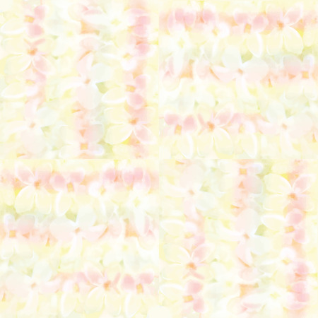 Grunge striped and checkered seamless pattern with cute white flowers Vector