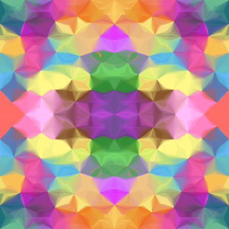 uneven: Grunge stained uneven colorful kaleidoscopic seamless pattern Illustration
