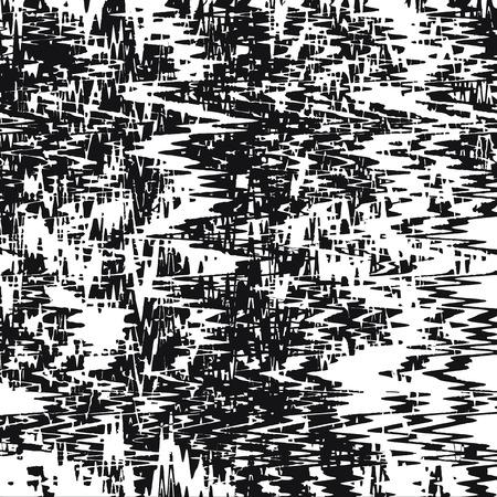 dynamic background: Black and white grunge striped zigzag dynamic background
