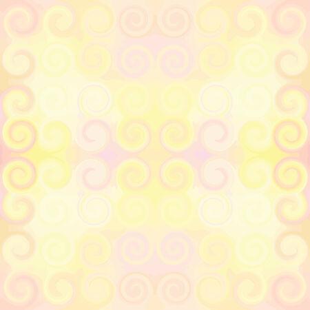 Modelo inconsútil en colores pastel, con elementos de remolino simétrico