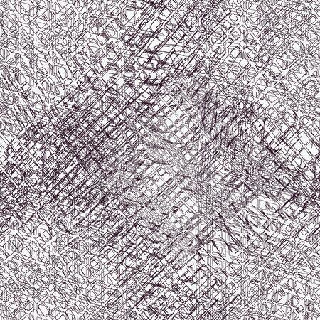 cuadros blanco y negro: Grunge rayas y cuadros composición perfecta en blanco y negro Vectores