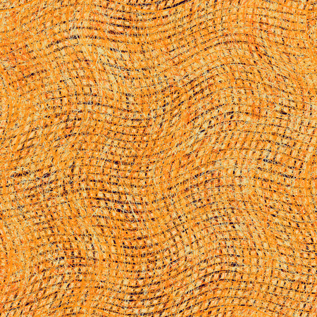 stockinet: Weave grunge striped wavy cloth background in orange,beige,brown colors