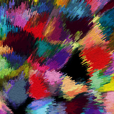 clusters: Abstract background with clusters of rainbow blocks Stock Photo