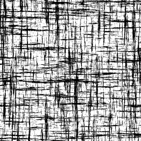Black and white abstract background with intersecting grunge stripes for web design Ilustração
