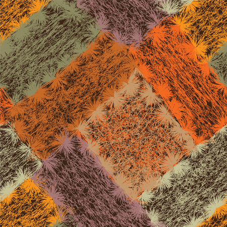 weave: Seamless pattern with colorful weave grunge striped rectangular elements