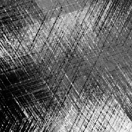 abstract shape: Black and white grunge striped and stained background