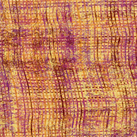 weave: Weave grunge striped and checkered seamless pattern in brown,yellow,violet colors Illustration