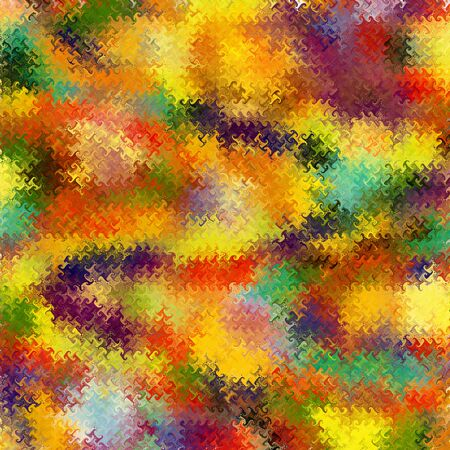 waved: Abstract rainbow stained glass background with waved elements Stock Photo