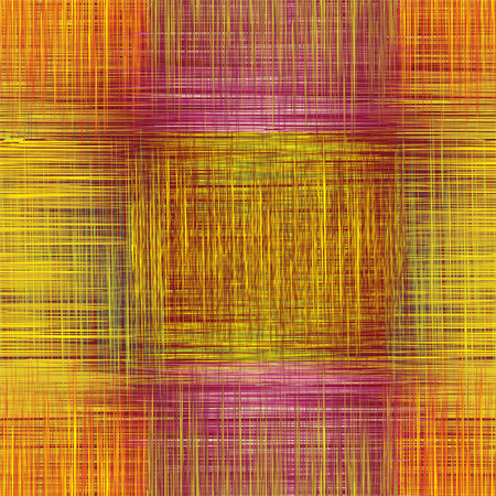 yello: Seamless pattern with grunge striped intersected square elements in yello,orange,crimson colors Illustration
