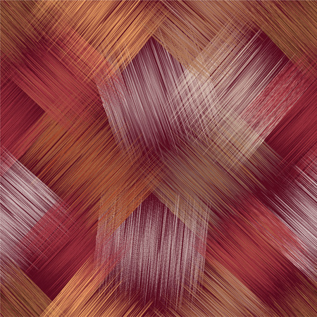 Grunge striped diagonal grid colorful seamless pattern for web design  イラスト・ベクター素材