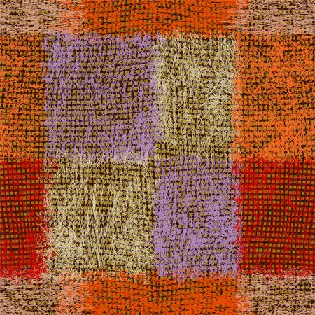 Weave grunge rayé pelucheux seamless coloré pour les tapis, plaid, tapis Vecteurs