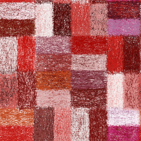 blanket: Seamless pattern with weave grunge striped colorful rectangular elements for plaid,carpet,cloth Illustration