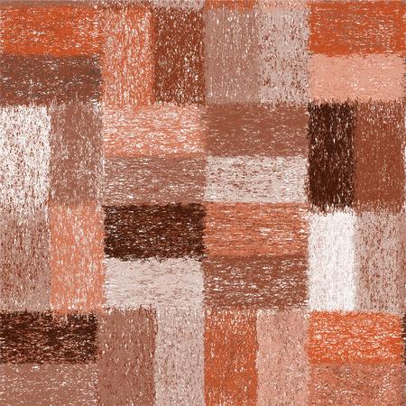 sin patrón, con la armadura del grunge rayas del edredón elementos rectangulares de tela escocesa, alfombras, telas en colores marrón, beige, blanco