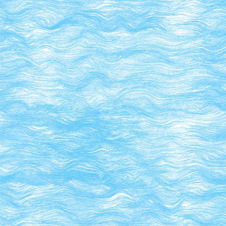 Jednolite wzór z niebieskimi falami morskimi Ilustracje wektorowe