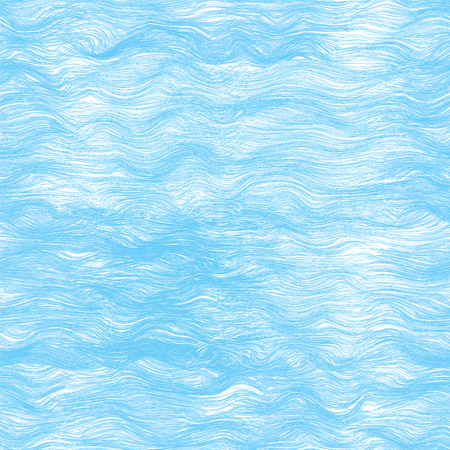 Seamless pattern with blue sea waves