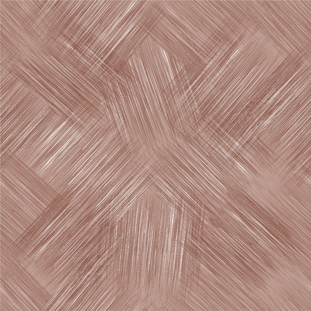 linoleum: Seamless diagonal pattern with grunge striped square elements in pastel brown colors Illustration