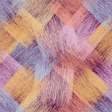 diagonal  square: Seamless diagonal pattern with grunge striped wavy lace square elements in pastel colors